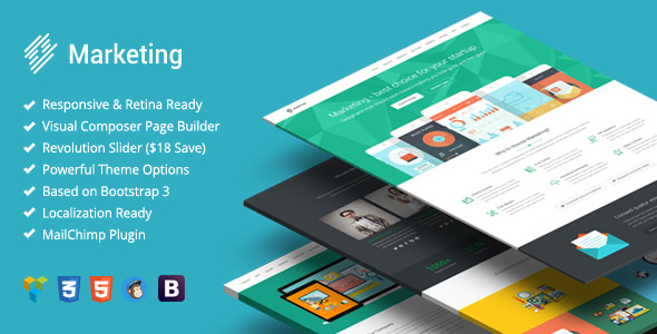 Marketing v1.1.8 — Startup Landing Page Bootstrap WP