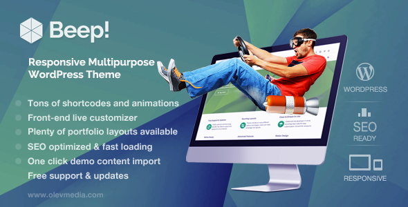 Beep v1.2.9 — Responsive Multi-Purpose WordPress Theme