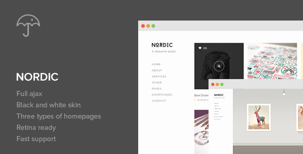 Nordic v1.6.0 — Retina Responsive WordPress Theme