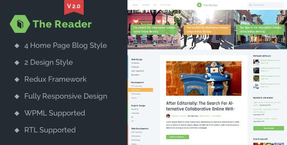 The Reader v2.1 — WordPress Minimal Blog Template