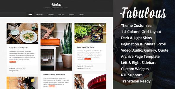 Fabulous v2.2 — Responsive Masonry Blog WordPress Theme