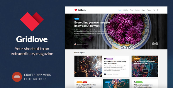 Gridlove v1.5 — Creative Grid Style News & Magazine