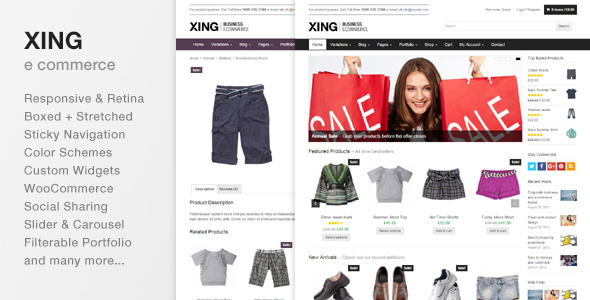 Xing v1.9.2 — Business / ecommerce WordPress Theme