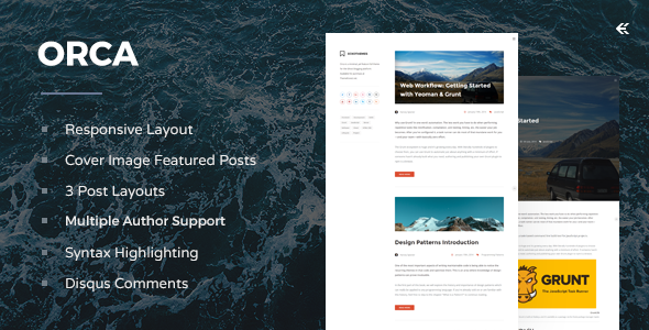 Orca v3.1.0 — Responsive Ghost Theme