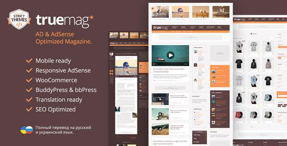 Truemag v1.3.8 — AD & AdSense Optimized Magazine