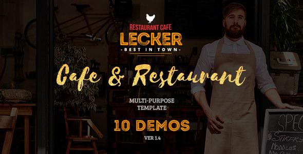 Lecker Restaurant — Cafe & Restaurant Template
