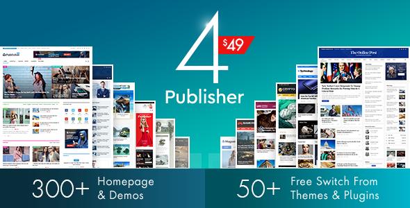 Publisher v4.0.0 — Newspaper Magazine AMP