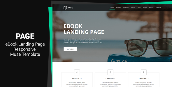 Page v1.0 — EBook Landing Page Muse Template