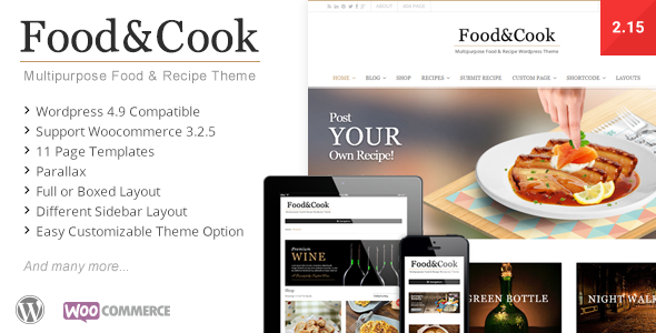 Food & Cook v2.6.7 — Multipurpose Food Recipe WP Theme