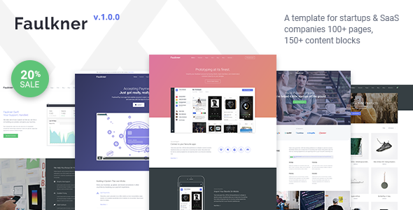 Faulkner v1.0.0 — Multi-purpose HTML5 Template for Startups & Saas Companies
