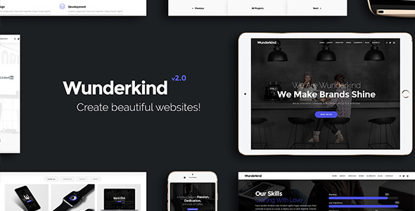 Wunderkind v2.1.3 — One Page Parallax Theme
