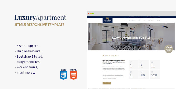 Luxury Apartment v1.3 — Single property HTML5 Template