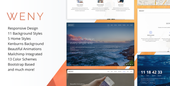Weny v1.5 — Responsive Coming Soon Template