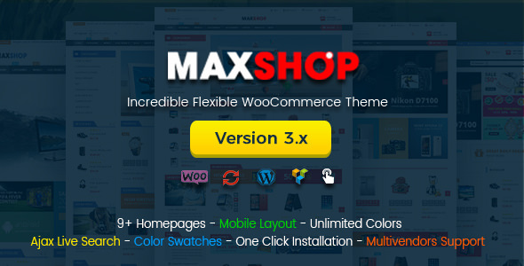 Maxshop v3.0.0 — Multi-Purpose Responsive WooCommerce Theme