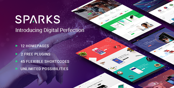 Sparks v1.1.2 — A Modern Theme for App Creators, Startups