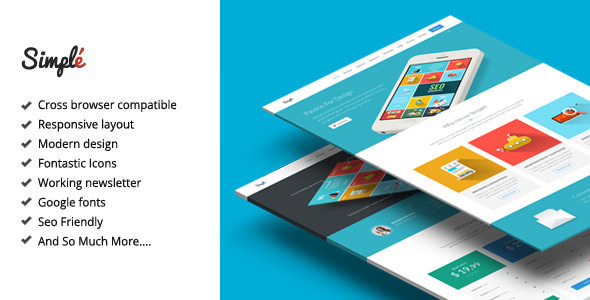 Simple v2.1 — Responsive Landing Page Template