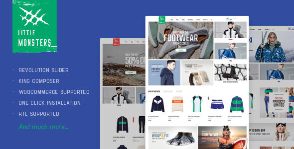 Littlemonsters v1.0 — Sport Shop WooCommerce Theme
