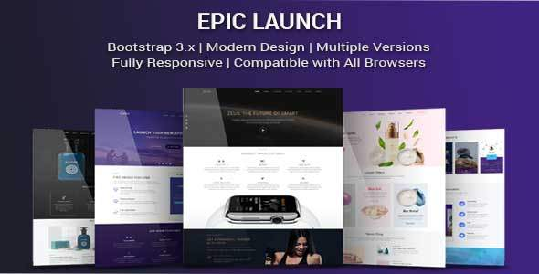 Epic Launch — High-Converting Landing Page Template