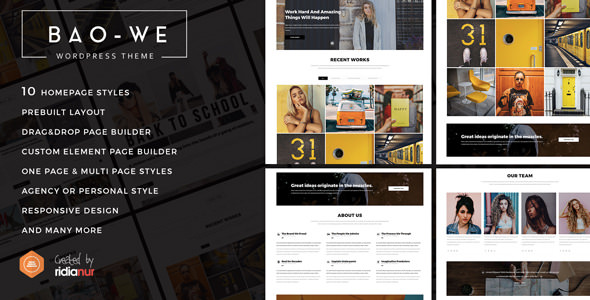 Baowe v1.1 — Responsive One/Multi Page Portfolio WordPress Theme