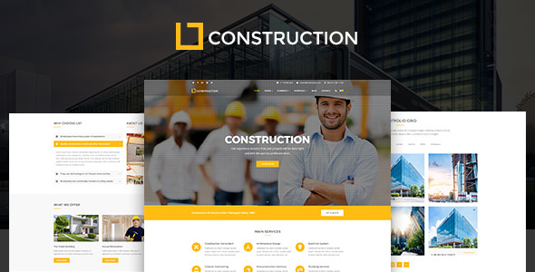 Construction — Construction Company, Building Company Template