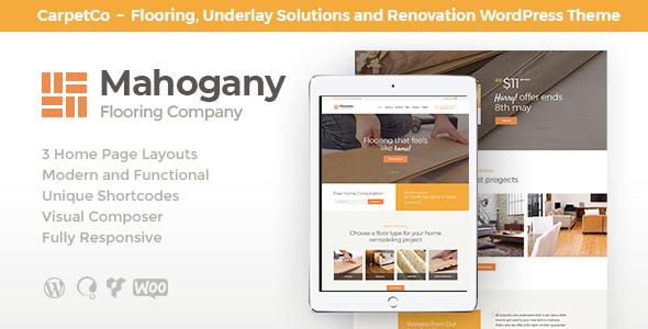 Mahogany v1.0 — Flooring Company WordPress Theme