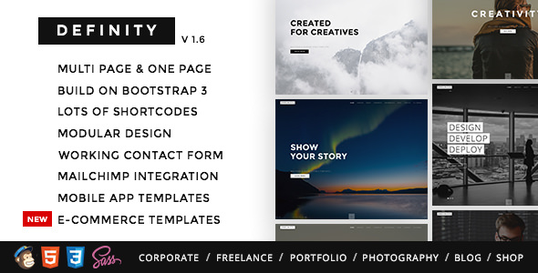 Definity — Multipurpose One/Multi Page Template