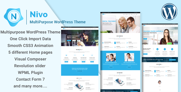 Nivo v1.0.1 — Responsive Creative MultiPurpose WordPress Theme