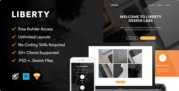 Liberty v1.0 — Responsive Email + Themebuilder Access