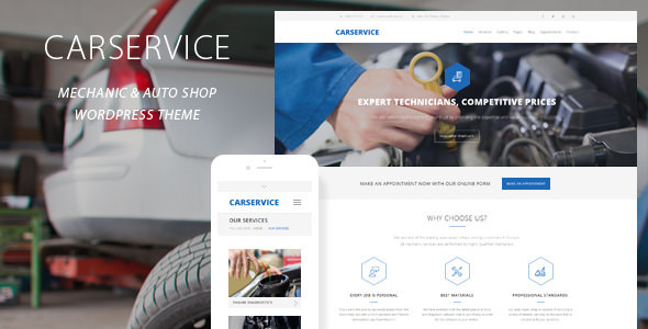 Car Service v3.9 — Mechanic Auto Shop WordPress Theme