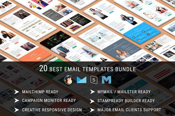 20 Best Email Templates — Bundle 10