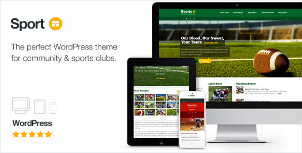 Sport v2.10 — WordPress Club Theme
