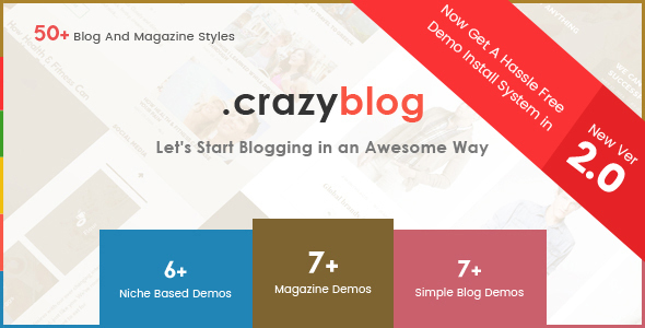 CrazyBlog v2.1 — Start A Blog or Magazine for Adsense