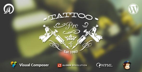 Tattoo Pro v1.8.3 — Your Tattoo Shop WordPress Theme
