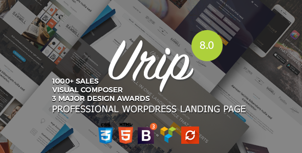 Urip v8.2 — Professional WordPress Landing Page