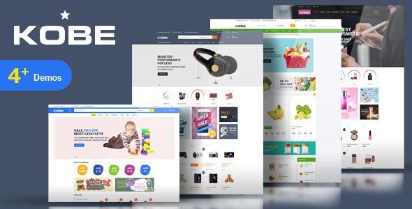 Kobe v1.0 — Multi Store Responsive Magento Theme