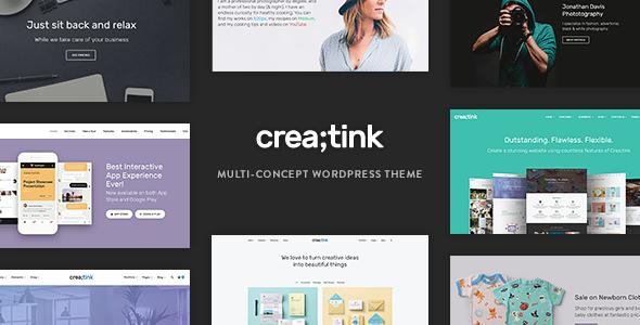 Creatink v1.0.2 — Multi-Concept Responsive WordPress Theme