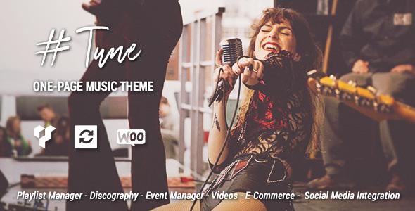 Tune v1.6.1 — One-Page Music WordPress Theme