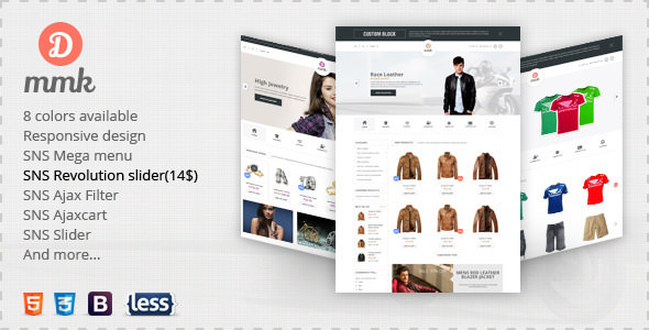 SNS Dmmk — Responsive Multipurpose Magento Theme
