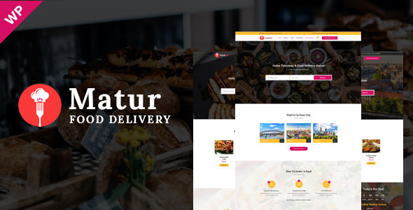 Matur v1.0 — Food Delivery & Ordering WordPress Theme