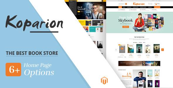 Koparion v1.0 — Book Shop Responsive Magento Theme