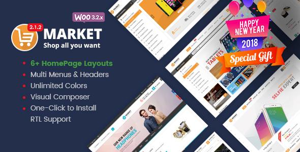 Market v2.2.0 — Shopping WooCommerce WordPress Theme