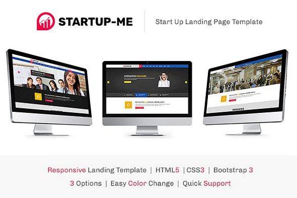 StartUp-Me v1.0.0 — HTML Landing Page