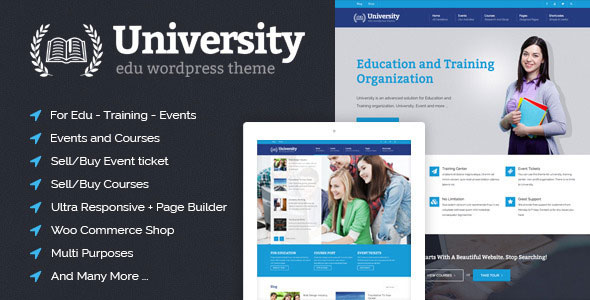 University v2.1 — Education, Event and Course Theme