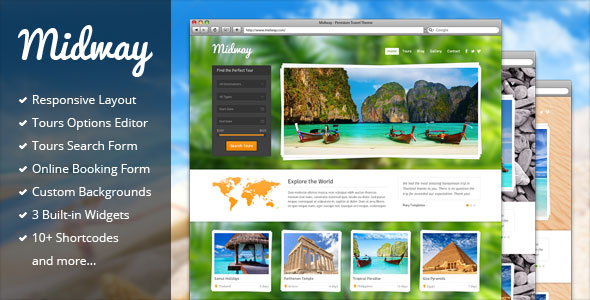 Midway v3.12 — Responsive Travel WP Theme