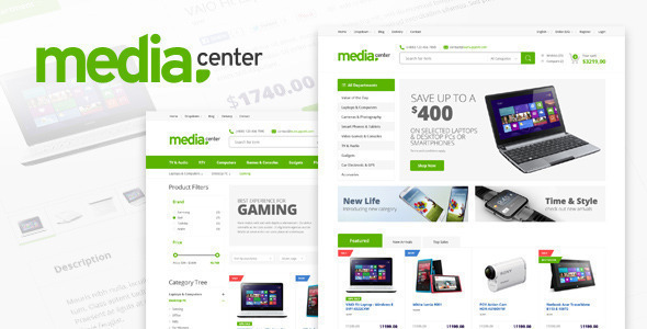 MediaCenter v2.7.3 — Electronics Store WooCommerce Theme