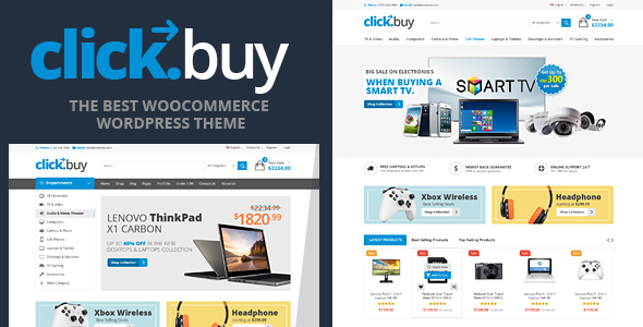 Clickbuy v1.3.5 — WooCommerce Responsive Digital Theme
