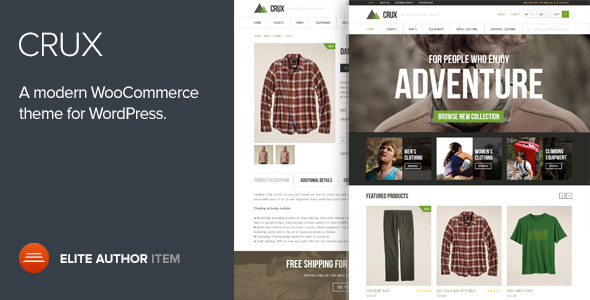 Crux v1.9 — Modern and lightweight WooCommerce theme