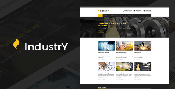 Industry v3.0 — Factory, Company And Industry WP Theme
