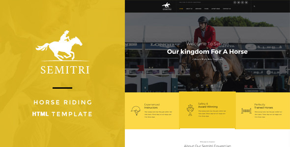 Semitri v1.0 — Horse Riding HTML Template