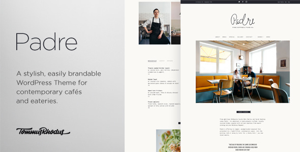Padre v1.0.6 — Cafe & Restaurant WordPress Theme